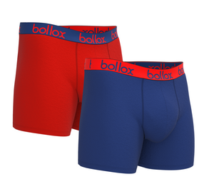 Mr Lazy Bollox Bedtime T-shirt & Underwear - Red & Blue