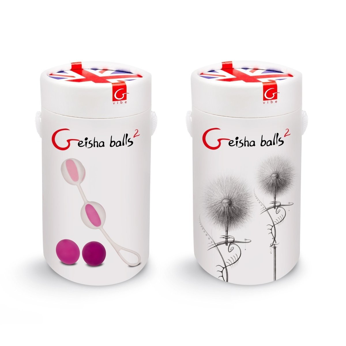 Geisha Balls 2 - Pink - Vaginal Balls for Kegel Exercises - Buy Sex Toys Gvibe.com