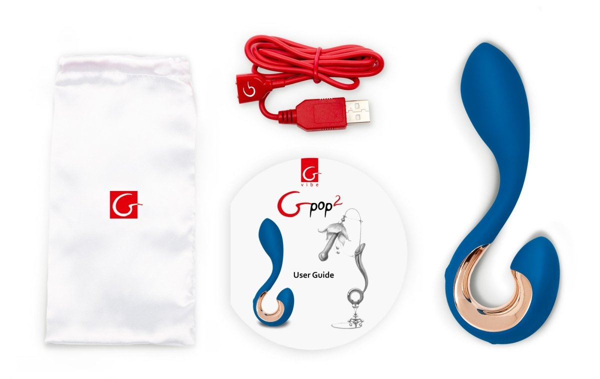 Gpop 2 - Indigo Blue - G-Spot Vibrator and P-Spot Massager - Buy Sex Toys Gvibe.com