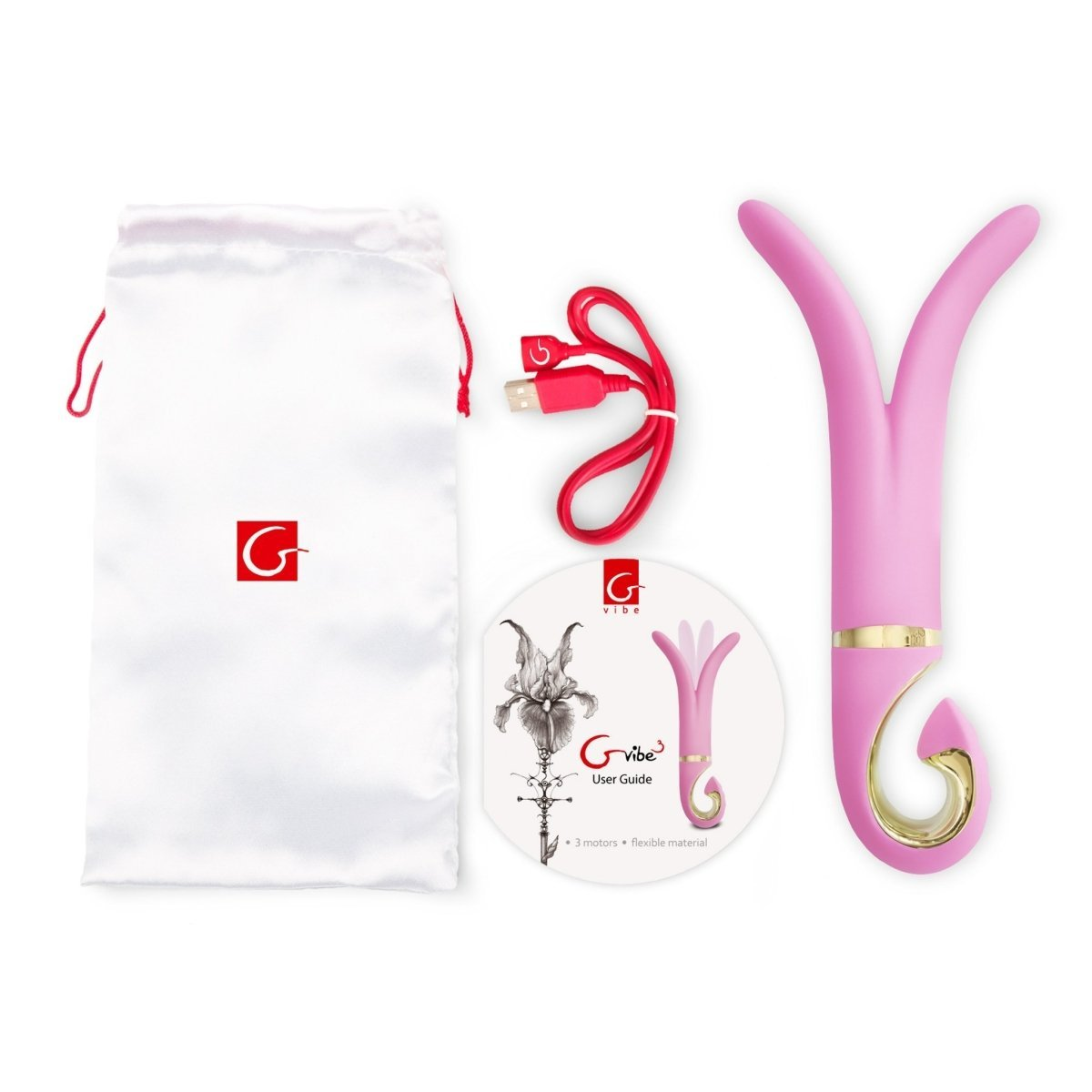 Gvibe 3 - Candy Pink - Double Vibrator For Vagina And Anus - Buy Sex Toys Gvibe.com