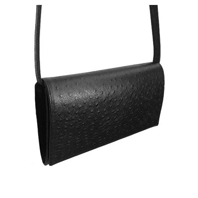 Black Ostrich (Entirely Embossed Leather)