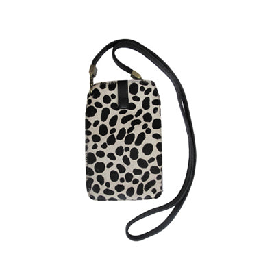 Black and White Cheetah (Hair-on-hide / Back: Solid Black Leather)