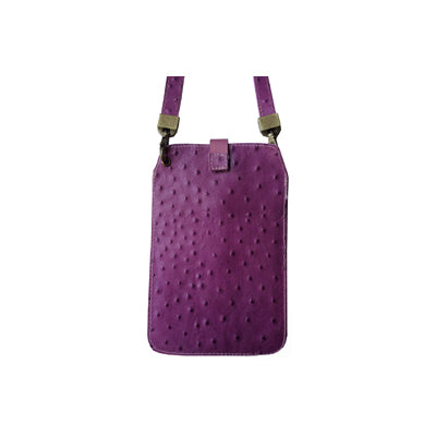 Fuschia Ostrich (Embossed Leather / Back: Same as front)