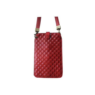 Red Diamonds (Embossed Leather / Back: Solid Red Leather)