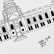 Load image into Gallery viewer, Belfast cityhall size A4