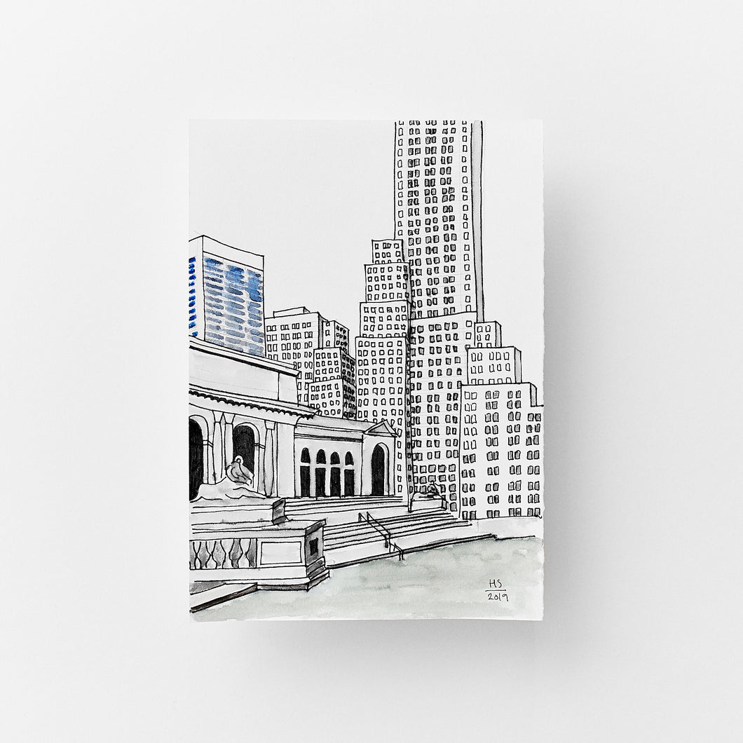 New York City Public Library size 14,9 x 21 cm
