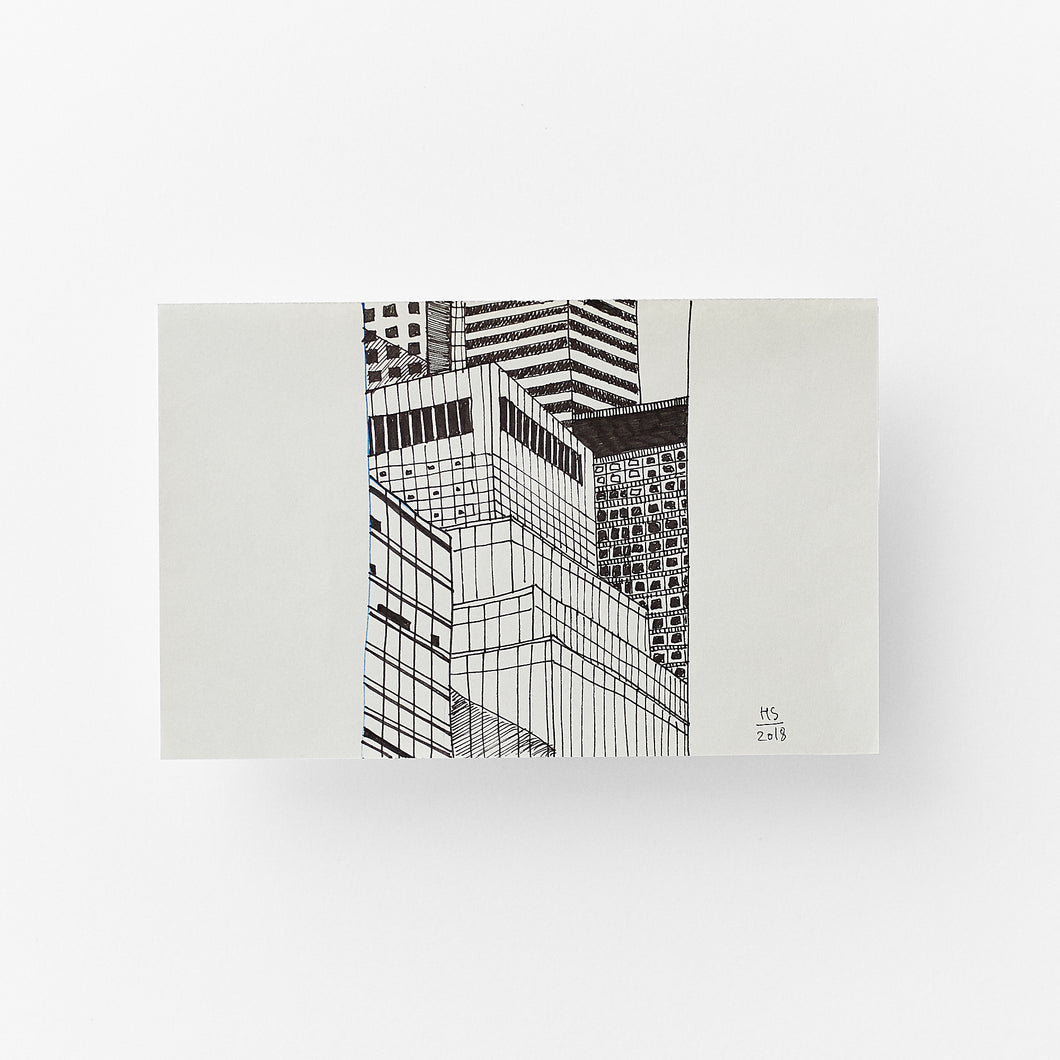 Concrete jungle size 12,2 x 19,2 cm
