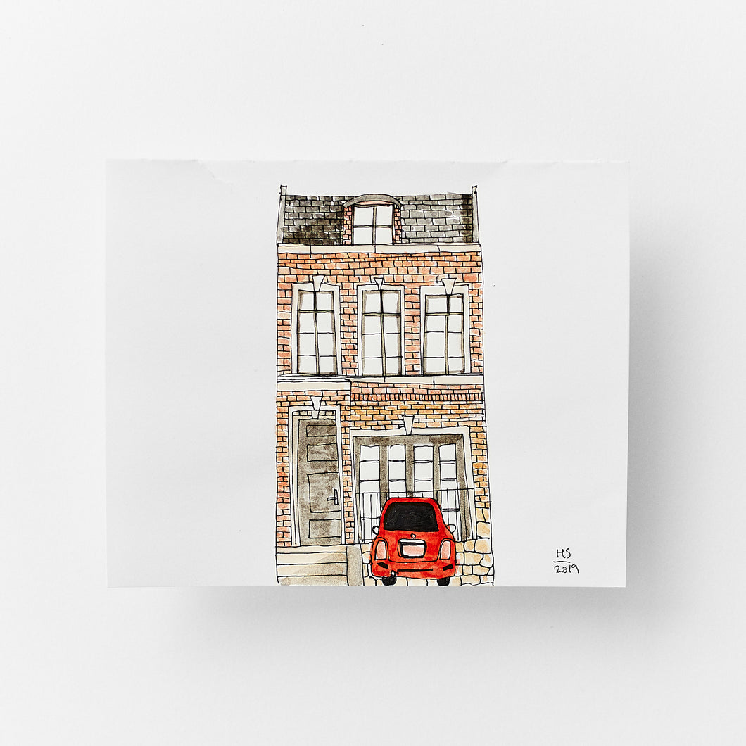 London Townhouse size 16,9 x 13,9 cm