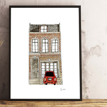 Load image into Gallery viewer, London townhouse size A3