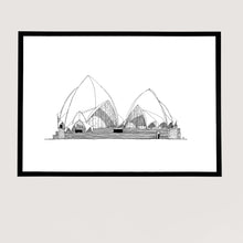 Load image into Gallery viewer, Sydney Operahouse size A3