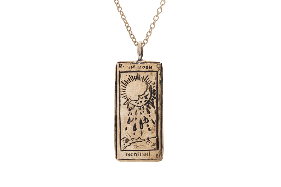 The Moon Tarot Card Necklace