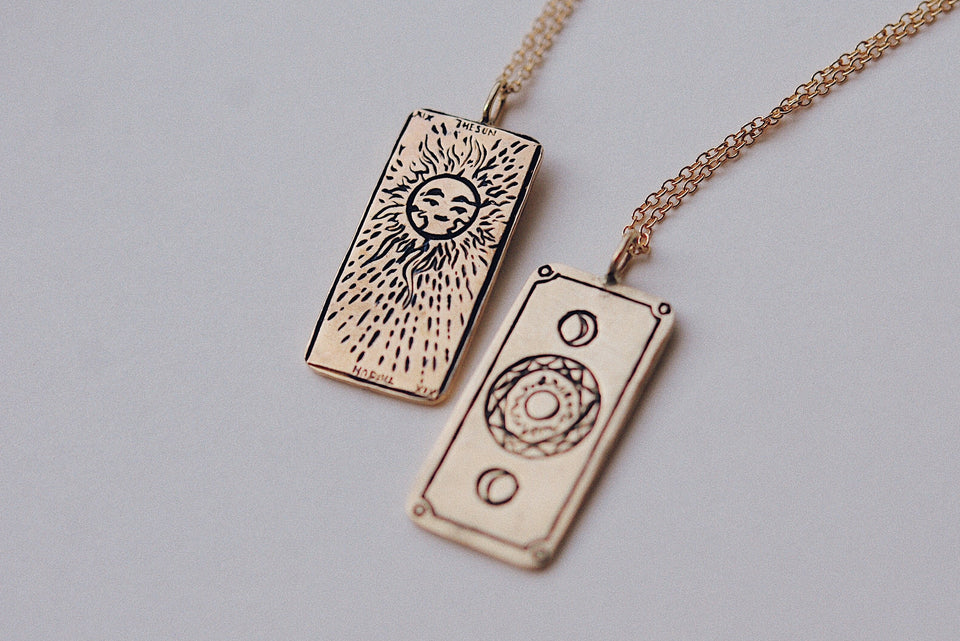 The Sun Tarot Card Necklace
