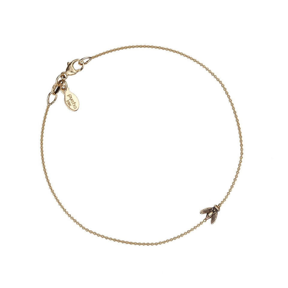 Bee 14K Gold Symbol Chain Bracelet