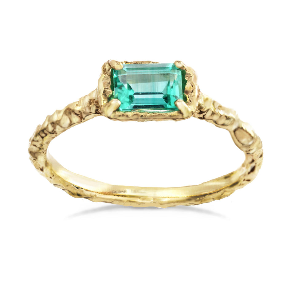 Pale Emerald Baguette Ring