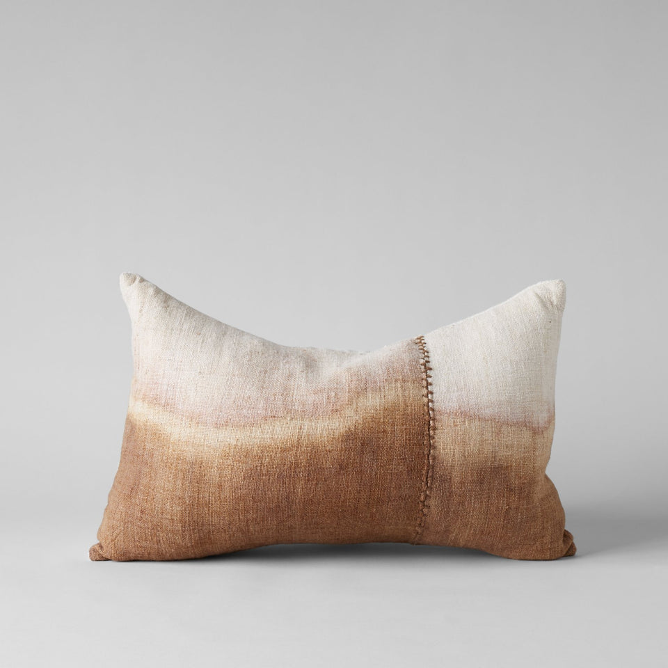 Dip Dye Wool Pillow In Blush 16x24