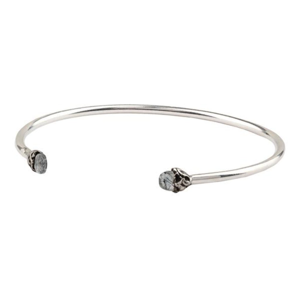 Protection Capped Attraction Charm Open Bangle