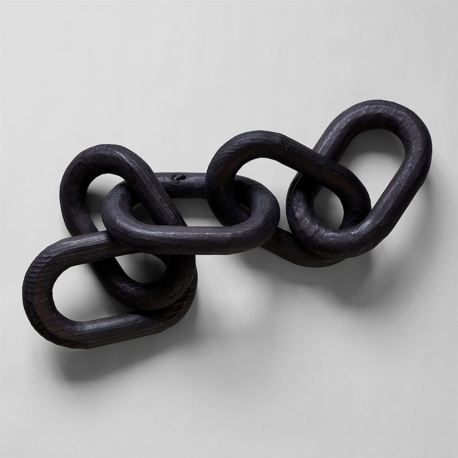 Charcoal Wood Chain, Large Link