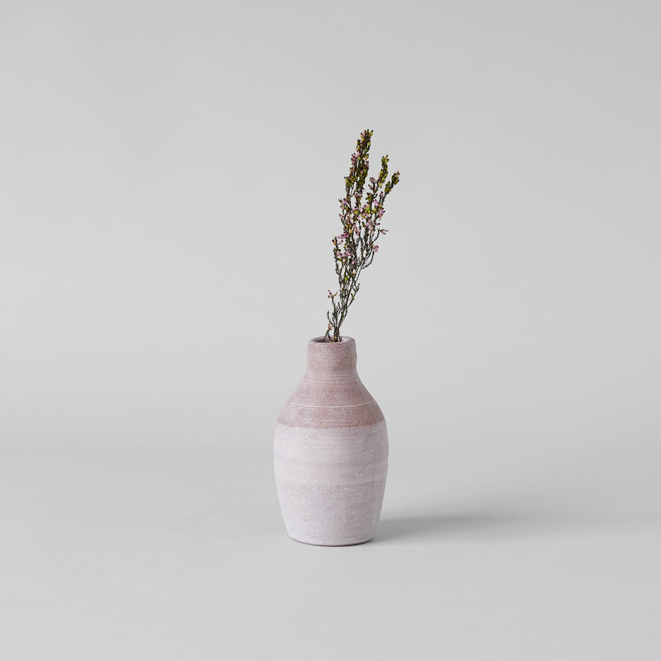 Pink Terra Cotta Bottle Vase