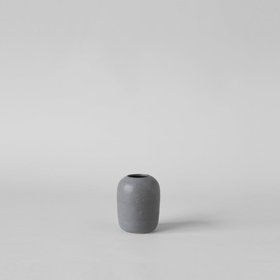 Oval Vase In Charcoal