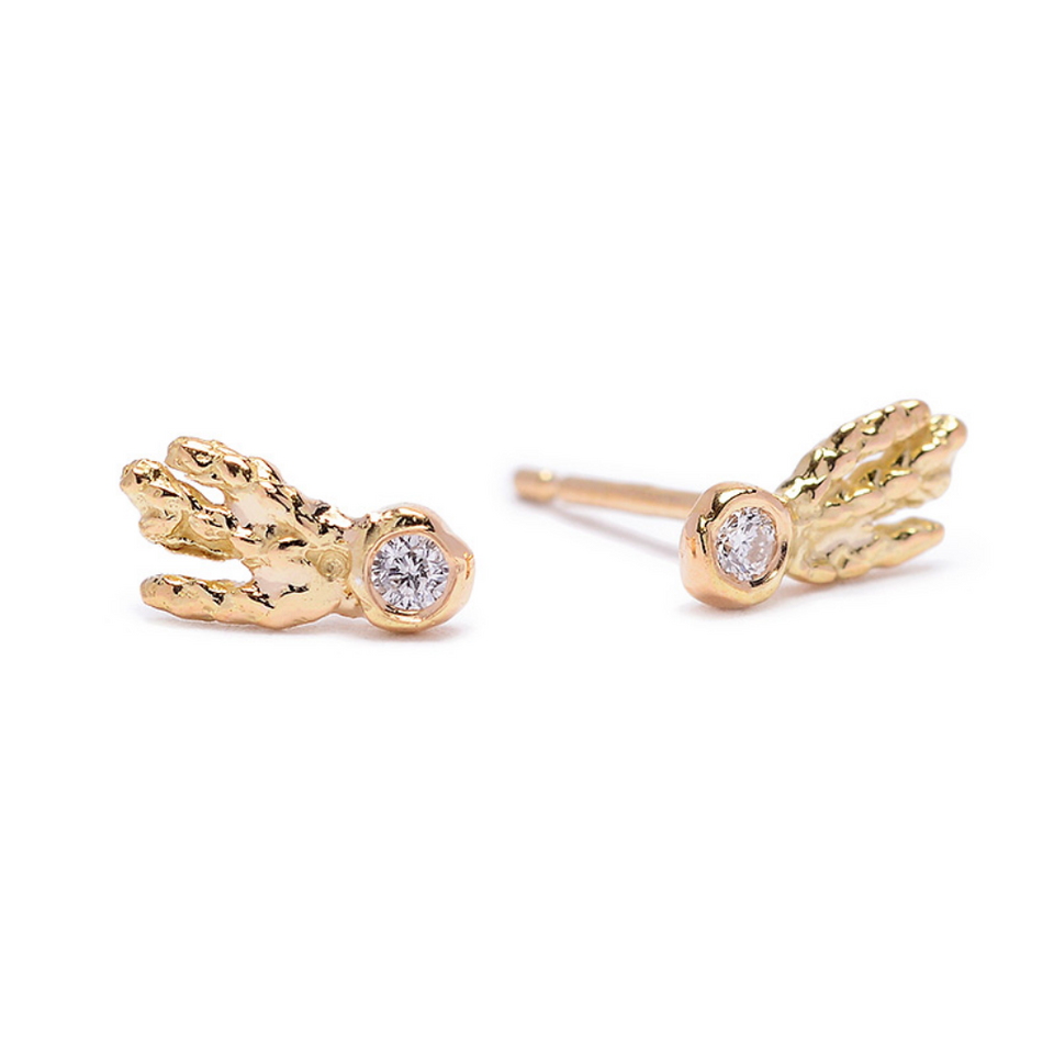 Teeny Comet Studs Diamond