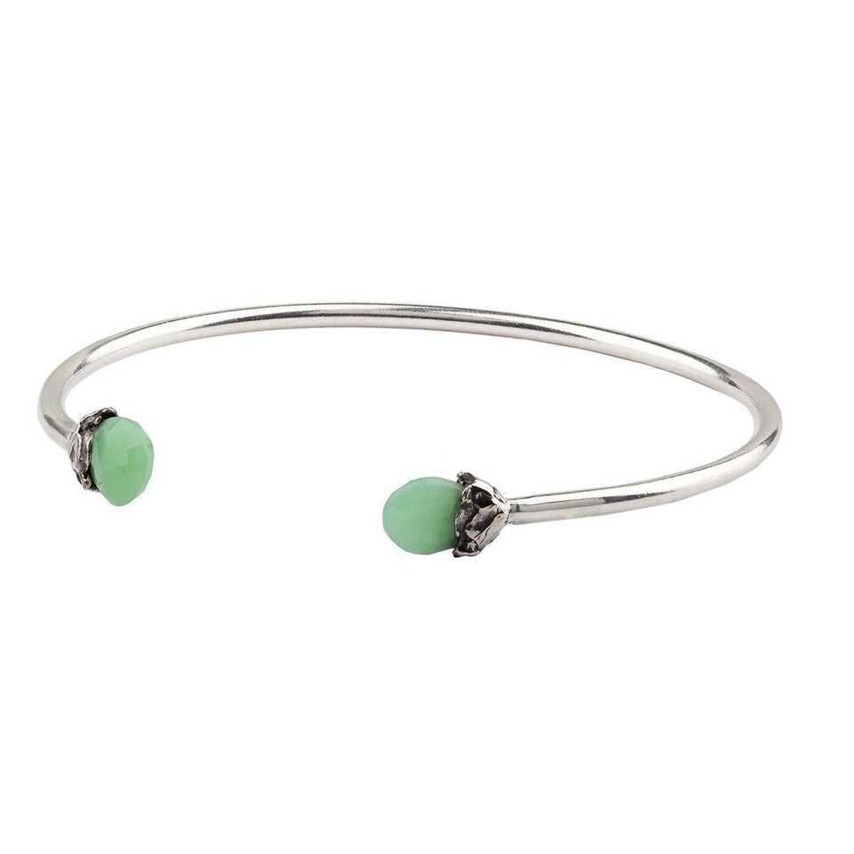 Healing Capped Attraction Charm Open Bangle