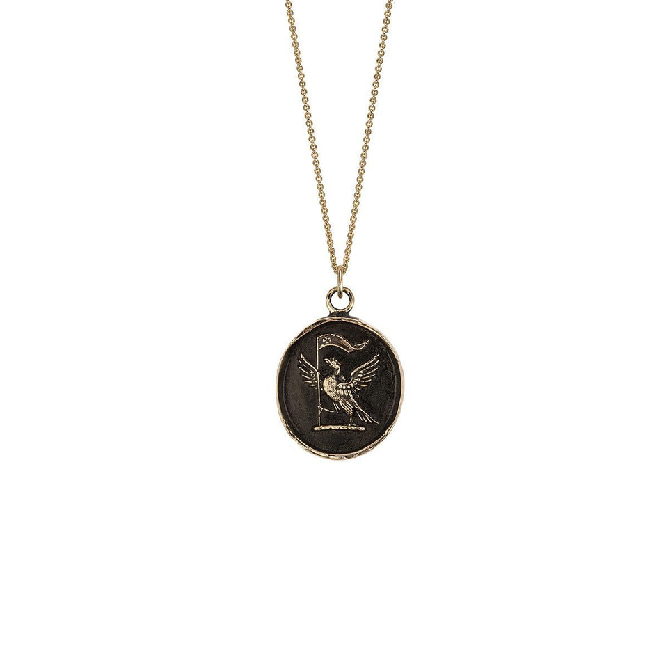 Never Settle 14K Gold Talisman