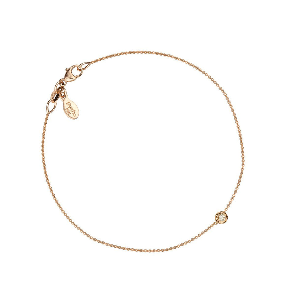Stone Set 14K Gold Chain Bracelet