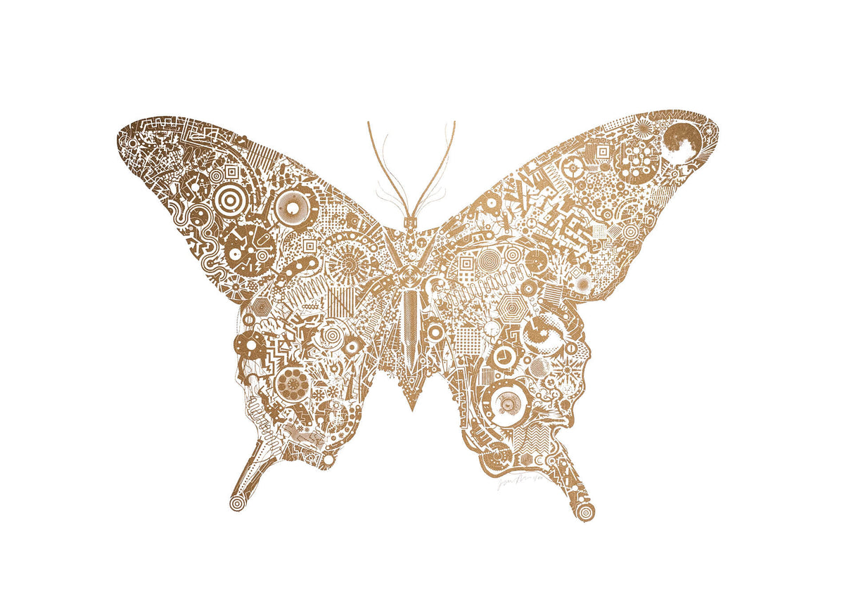 James Bates Mechanical Butterfly for Modern ArtBuyer
