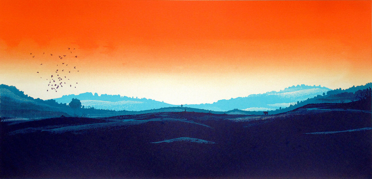 Chris Keegan Silver Sunset for Modern ArtBuyer