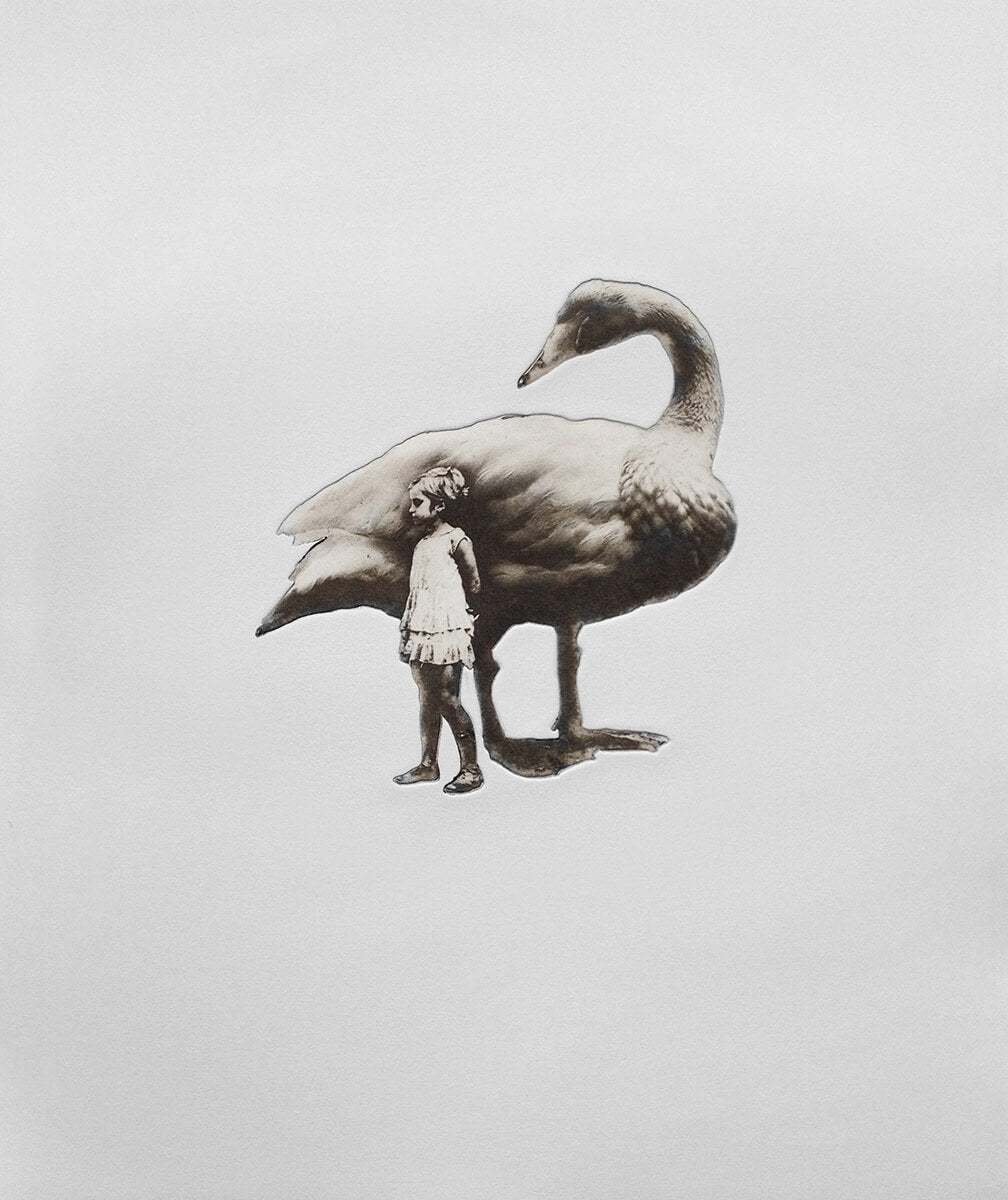 Jaco Putker Girl and Swan No. 2 for Modern ArtBuyer