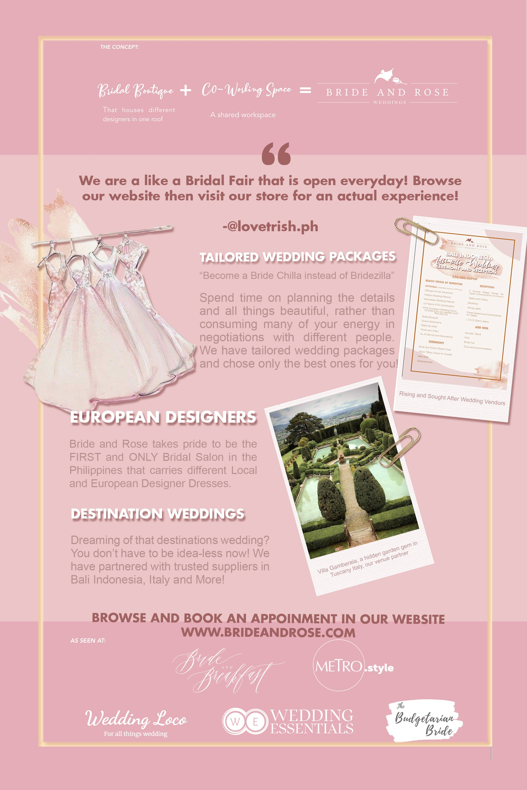 Bride and Rose Suppliers Directory Brand Partner