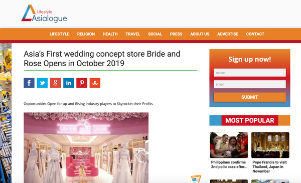 Bride and Rose Wedding Planning Essentials Concept Store Quezon City Manila Philippines Press Release