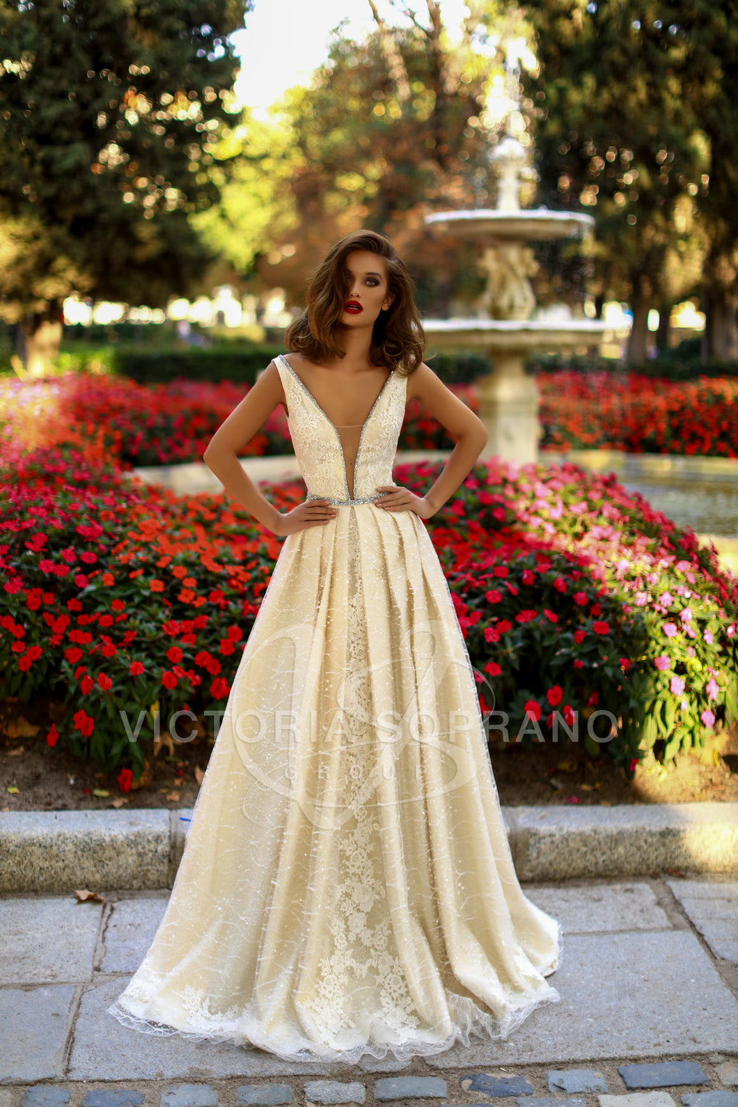 The One Collection 'Tiara' Victoria Soprano RTW 17318-419 Ready To Wear European Bridal Wedding Gown Designer Philippines