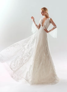 White Wind 'Aida' Papilio Bridal RTW 18-1908L-330 Ready To Wear European Bridal Wedding Gown Designer Philippines