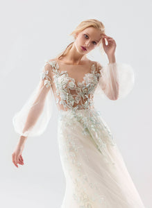 White Wind 'Freezia' Papilio Bridal RTW 18-1911L-260 Ready To Wear European Bridal Wedding Gown Designer Philippines