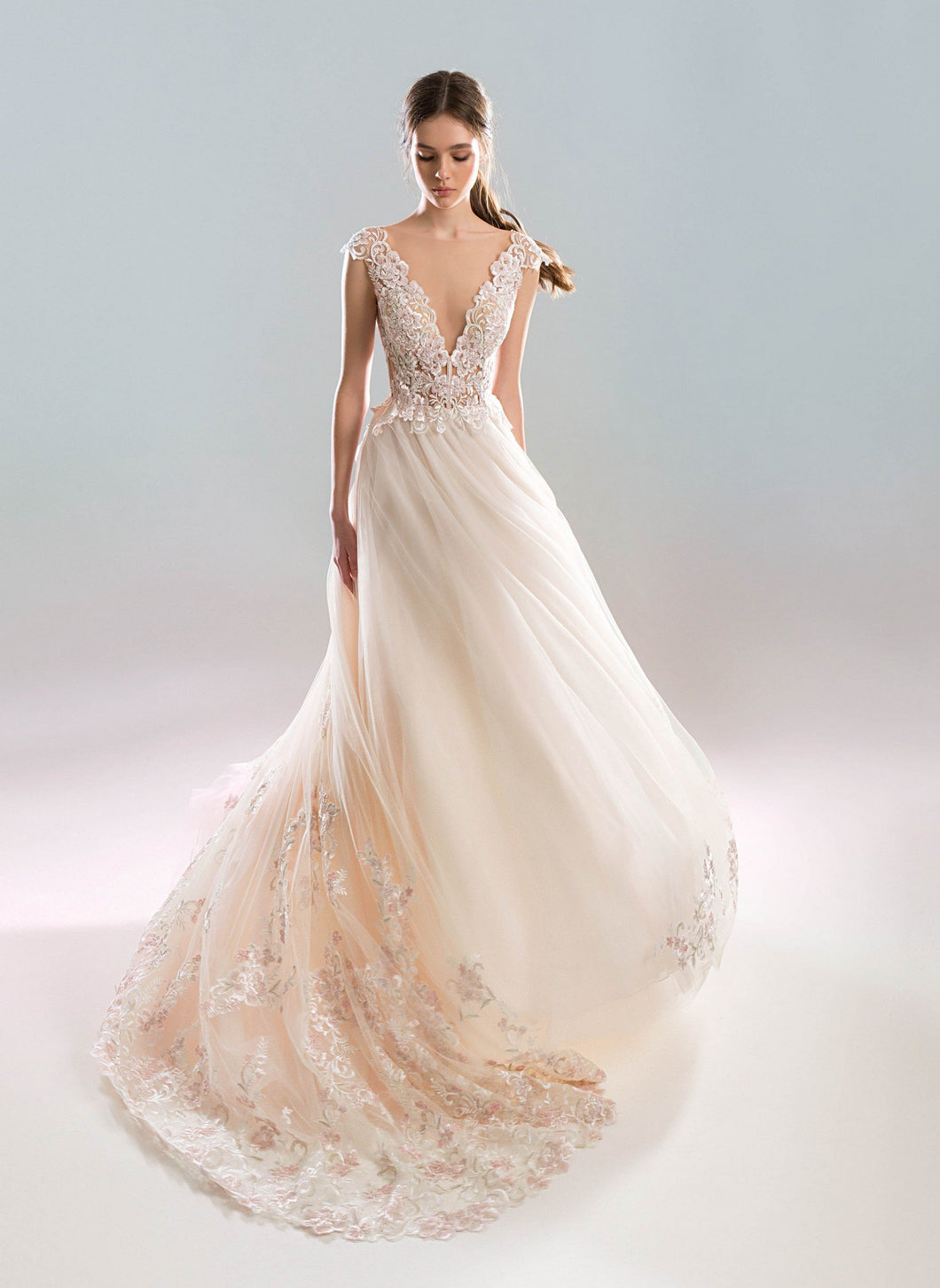 White Wind 'Zephyr' Papilio Bridal RTW 1917L-370 Ready To Wear European Bridal Wedding Gown Designer Philippines
