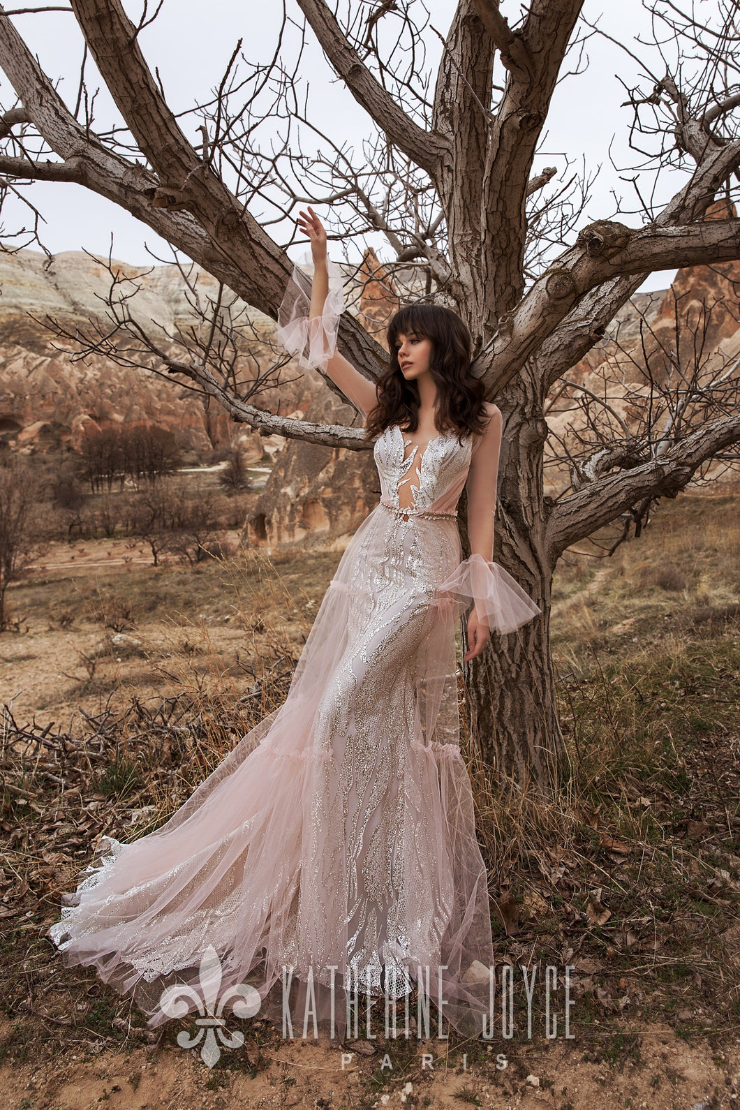 Wind Desert 'Altar' Katherine Joyce Paris RTW T 01-368 Ready To Wear European Bridal Wedding Gown Designer Philippines