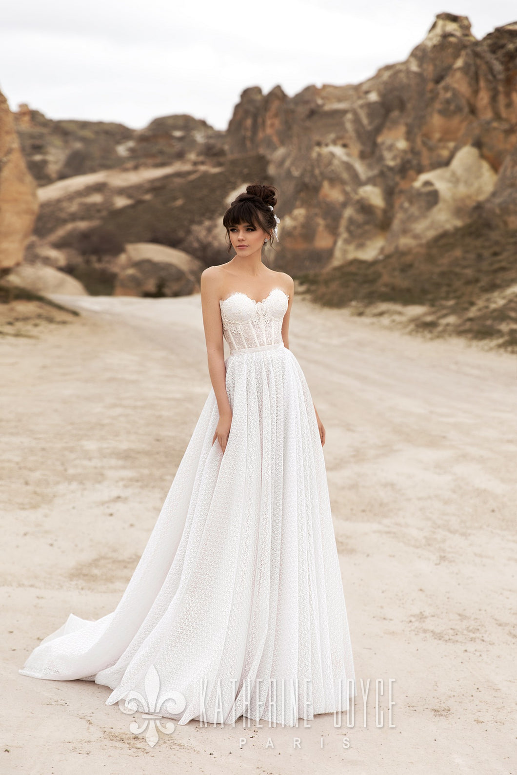 Wind Desert 'Zaidam' Katherine Joyce Paris RTW T 209-241 Ready To Wear European Bridal Wedding Gown Designer Philippines