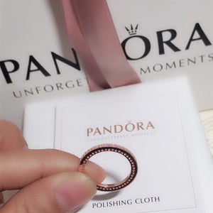 Rose Gold Ring Pandora  92.5 Italy silver