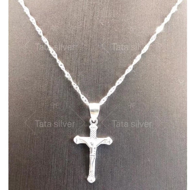 Necklace with Cross Pendant  92.5 Italy silver
