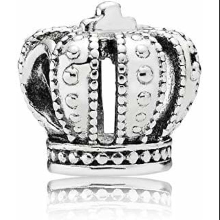 Crown Pandora charm 92.5 Italy silver