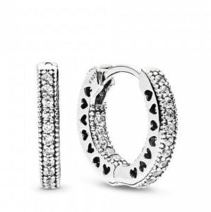 Pandora Hoop Earrings DE11   92.5 Italy silver