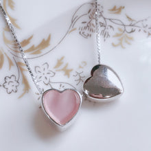 Load image into Gallery viewer, Double Heart Necklace  92.5 Italy silver