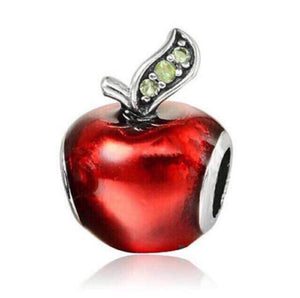 Red apple Pandora charm 92.5 Italy silver