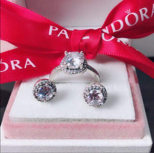 Ring and Earrings Pandora 92.5 Italy silver