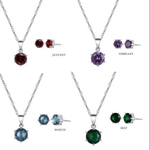 Load image into Gallery viewer, Birthstone Set  92.5 Italy silver
