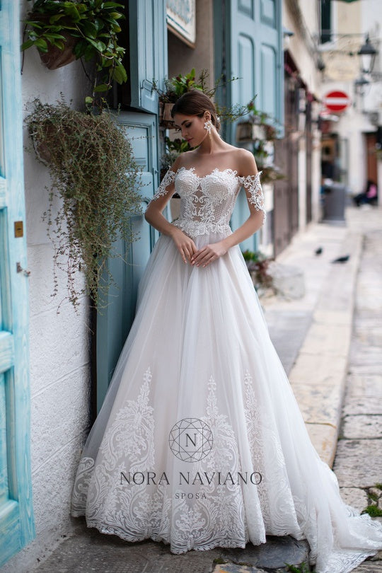 Italian Dream 'Mercy' Nora Naviano Sposa RTW 20019-371 Ready To Wear European Bridal Wedding Gown Designer Philippines