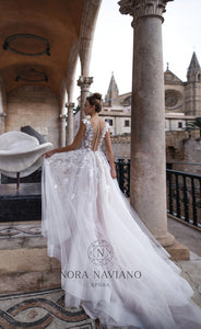 Voyage 'Vicentia' Nora Naviano Sposa RTW 18016-00 Ready To Wear European Bridal Wedding Gown Designer Philippines