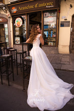 Load image into Gallery viewer, Sicilian Sky 'Breany' Lussano Bridal RTW 19041- 403 Ready To Wear European Bridal Wedding Gown Designer Philippines