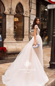 Dolly Collection 'Jacklyn' Naviblue Bridal RTW 17306-530 Ready To Wear European Bridal Wedding Gown Designer Philippines